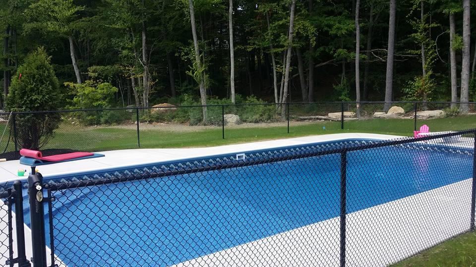 Chain Link Pool Fence Hopkinton Ma Miller Fence
