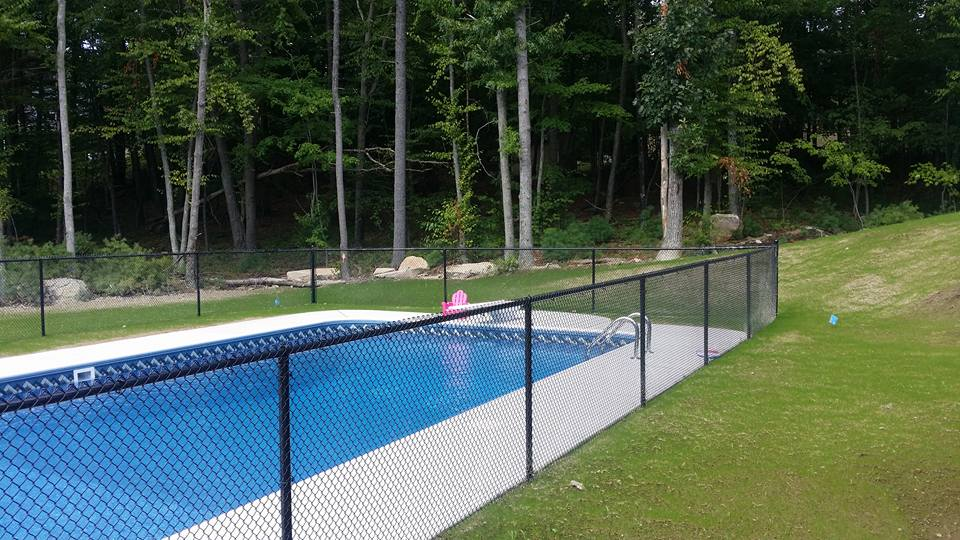 Chain Link Pool Fence Hopkinton Ma Miller Fence