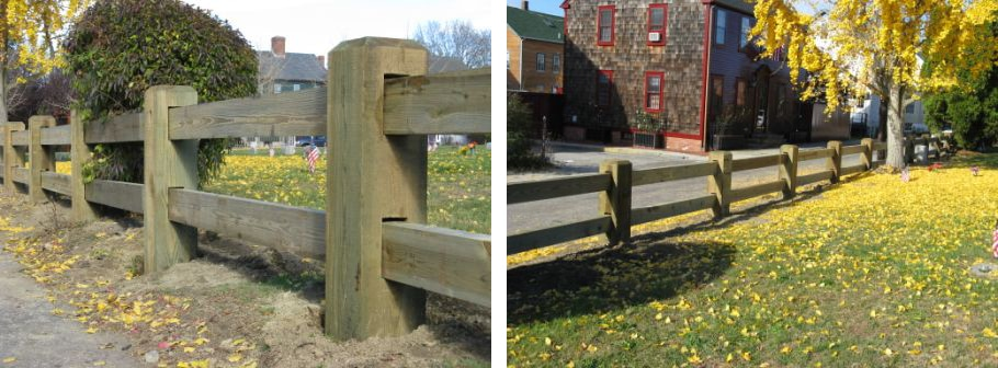 wood guard rail