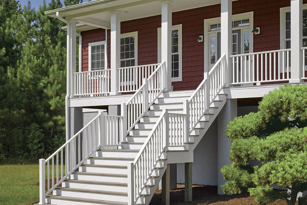 Kingston with square balusters in white